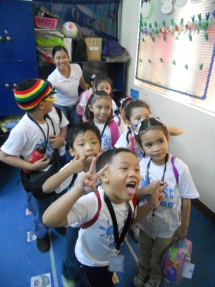 upon arrival the friendly staff greeted preschool c and led them to