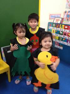 Say hi to our Green Frog (Lexi), Red Bird (Jaden), and Yellow Duck (Sky)!